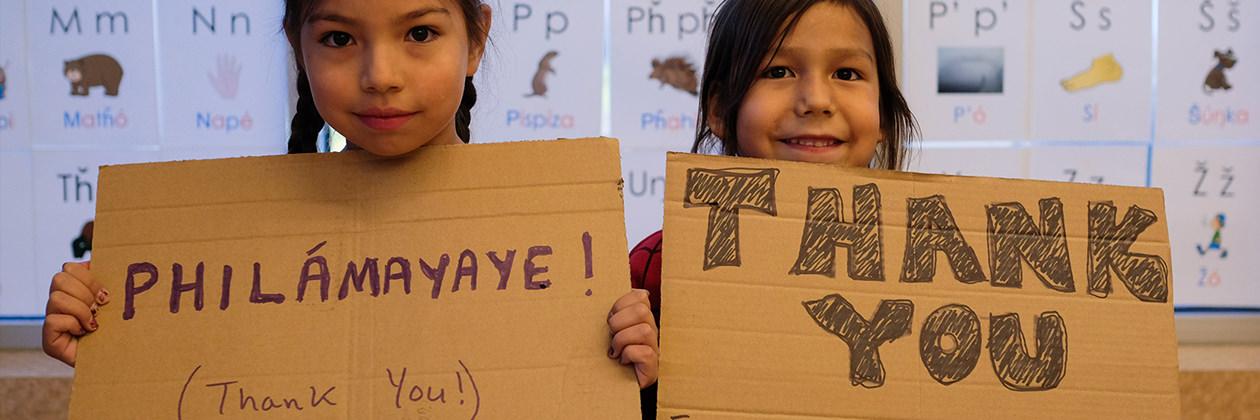 Lowi School - Children saying Thank You